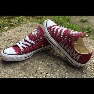 a9ed5c2e8fd663 ... Alabama Crimson Tide Custom Converse Shoes ...
